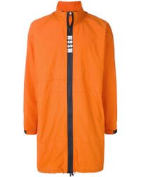 MSGM | Contrast Zip Rain Coat | Lyst