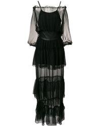 FEDERICA TOSI - Ruffled Sheer Belted Dress - Lyst