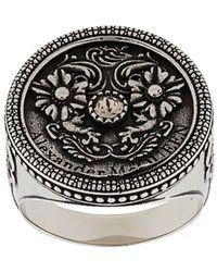 Alexander McQueen Gegraveerde Ring - Meerkleurig