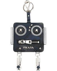 Prada - All Designer Products - Robot Keychain - Lyst