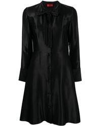 HUGO Bow-detail Flared Dress - Black