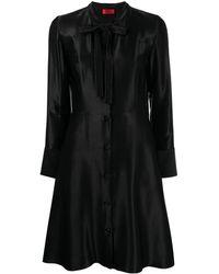 HUGO リボン フレアドレス - ブラック