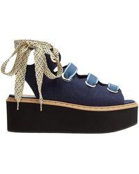 Fendi | Lace-up Platform Sandals | Lyst