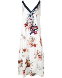 Antonio Marras - Floral Print Embroidered Dress - Lyst