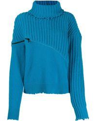 Unravel Project タートルネックセーター - ブルー