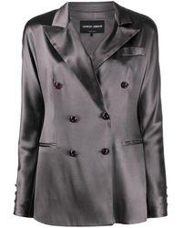 Giorgio Armani Double-breasted Silk Blazer - Multicolor