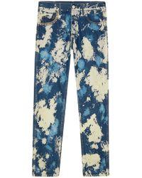 Gucci - Bleached Denim Punk Trousers - Lyst