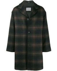 Lanvin Mid-length Check Coat - Brown
