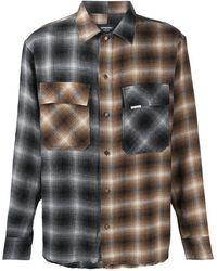 Represent Рубашка В Клетку - Коричневый