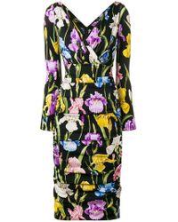 Dolce   Gabbana - Iris Print Dress - Lyst 57b3ebea1