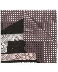 Liu Jo プリント スカーフ - ブラック