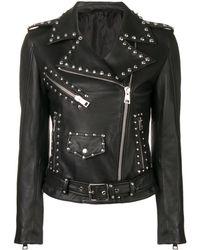 Manokhi Байкерская Куртка С Заклепками - Черный