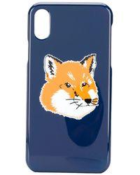 Maison Kitsuné Fox Head Iphone X ケース - ブルー