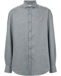 Brunello Cucinelli Однотонная Рубашка - Серый