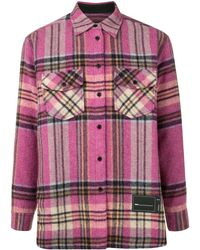 we11done Куртка-рубашка В Клетку - Розовый