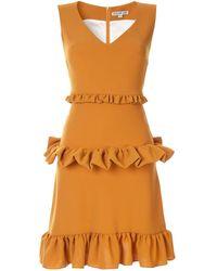 Edeline Lee Gesture ドレス - オレンジ