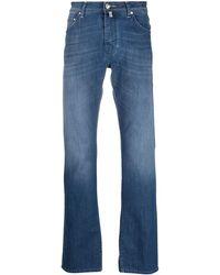 Jacob Cohen Gerade Jeans mit hohem Bund - Blau