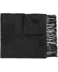 Kent & Curwen Plain Knit Scarf - Grey