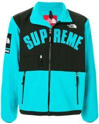 Supreme ロゴ ジャケット - ブルー