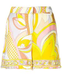 Emilio Pucci - High-waisted Printed Shorts - Lyst