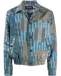 Natural Selection パッチワーク シャツジャケット - ブルー