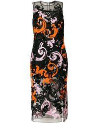 Versace エンブロイダリー ワンピース - ブラック