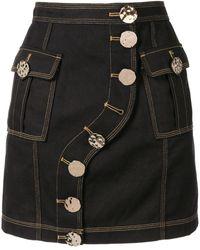 Acler Etchells Denim Skirt - Blue