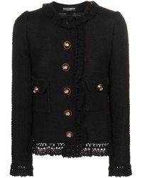 Dolce & Gabbana ツイード ジャケット - ブラック