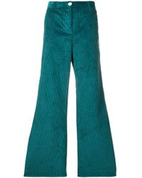 MASSCOB Corduroy Flared Trousers - ブルー