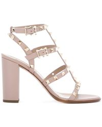 Valentino - - Garavani Rockstud Sandals - Women - Leather - 39.5 - Lyst
