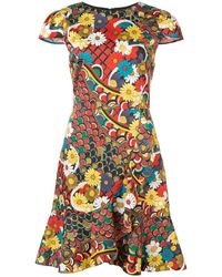 Alice + Olivia Kirby Floral Print Dress - Multicolor