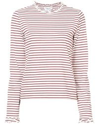 10 Crosby Derek Lam - Long Sleeve Fitted Tee With Ruffle Neck - Lyst