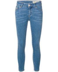 DIESEL - Tief sitzende Cropped-Skinny-Jeans - Lyst