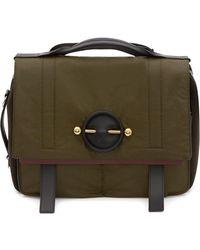 JW Anderson Technical Fabric Messenger Bag - Green