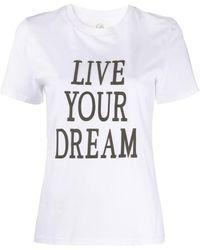 Alberta Ferretti Love Me Tシャツ - ホワイト