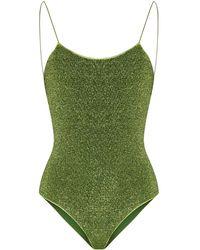 Oséree Lumière Glitter Swimsuit - Green