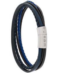 Tateossian Bracelet multi-tours Cobra - Bleu