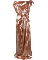 Roland Mouret Silva Bella ドレス - ブラウン