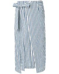 Eudon Choi - Central Slit Striped Skirt - Lyst