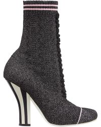 Fendi - Stretch Fabric Boots - Lyst