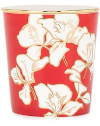 Shanghai Tang Ginger Flower Bone China Scented Candle - Red
