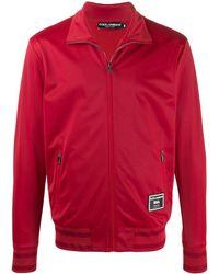 Dolce & Gabbana Felpa con applicazione - Rosso