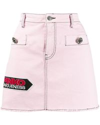 Pinko デニム ミニスカート - ピンク