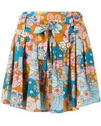 Dodo Bar Or Flared Floral-print Skirt - Multicolour