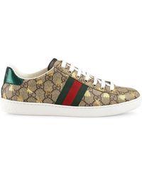 Gucci - Ace GG Supreme Sneaker Met Bijen - Lyst