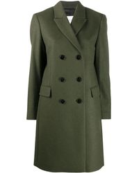 Calvin Klein Двубортное Пальто - Зеленый