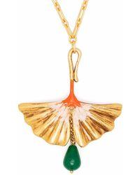 Ports 1961 Fan-motif Short Necklace - Metallic