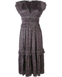 Ulla Johnson フローラル ドレス - ブラック