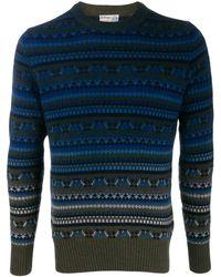 Ballantyne Fair-isle Knit Sweater - Blue