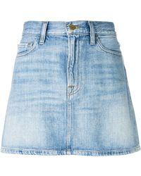 FRAME - Le Mini Denim Skirt - Lyst